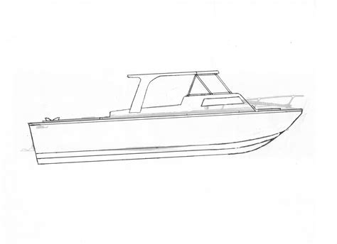 drawn boat realistic pencil and in color drawn boat - How To Draw A Jon Boat