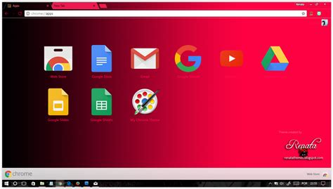theme chrome red black and red gradient google chrome themes