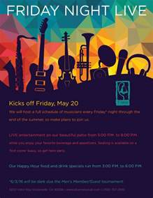 live music event flyer poster template live music