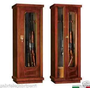 armadio fuciliera armadio fuciliera 158x57x43 dlv112 kg136 acciaio legno