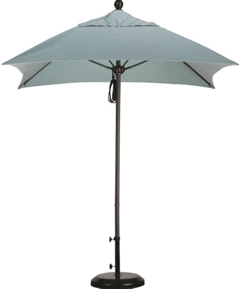 6 aluminum square sunbrella a patio umbrella