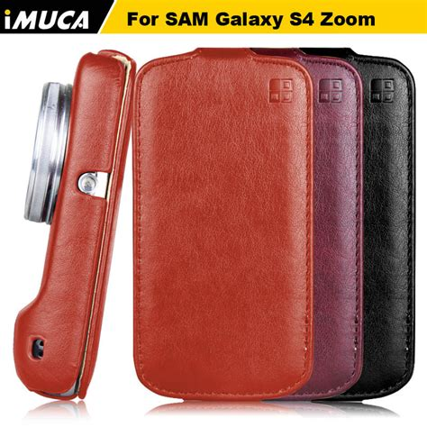 Samsung S4 Original 1 imuca original for samsung s4 zoom luxury flip leather for samsung galaxy s4 zoom sm
