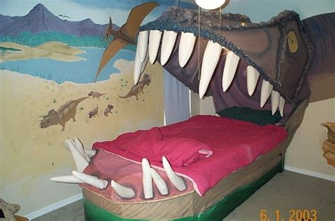 dinosaur bed bed looks like a dinosaur s mouth boing boing