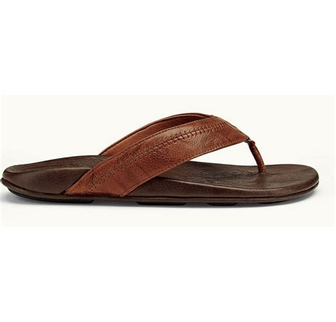 olukai mens sandals olukai hiapo s sandal rum java tackledirect