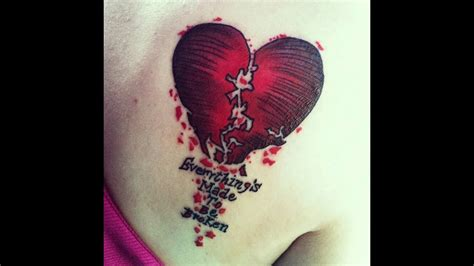 broken heart tattoo ideas broken hearted designs www pixshark images