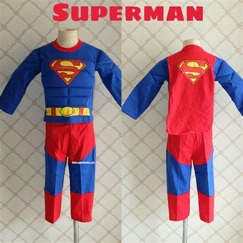 Baju Superheroes Batman Superman 5 kostum anak superman otot superheroku