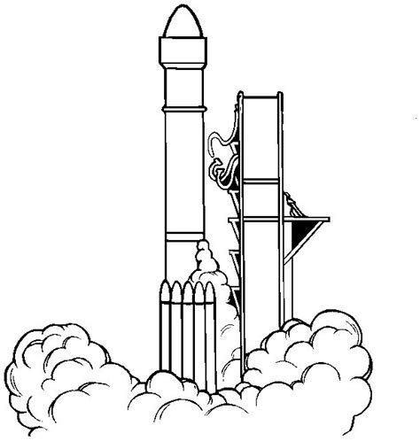rocket launch coloring page rocket launch colouring pages