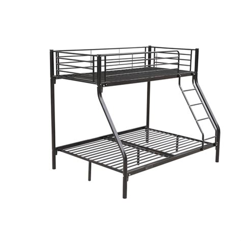 Metal Sleeper Bunk Bed by Homegear Sleeper Metal Bunk Bed Black The Sports Hq
