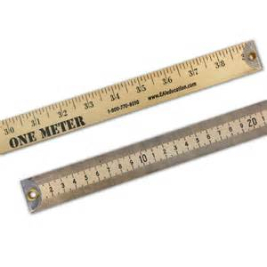 in a meter wooden meter stick metal edge measurement data eai education