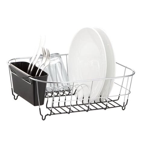 dish drying rack drainer holder plate tray sink small