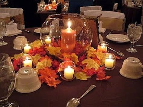 autumn wedding romantic diy fall wedding centerpieces