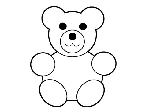 printable teddy template teddy templates clipart best