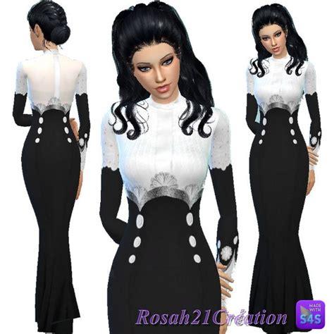 nosh dress conte fr soeur simsette dress at les contes d helena via sims 4