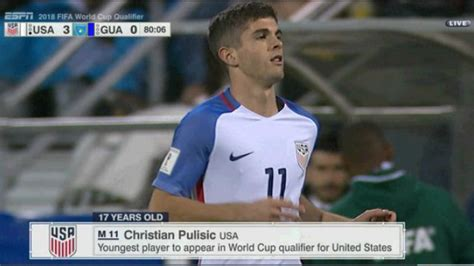 christian pulisic youth video christian pulisic makes full u s debut in 4 0 rout of
