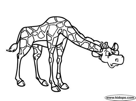 imagenes para dibujar sad p 225 gina para colorear de jirafa triste
