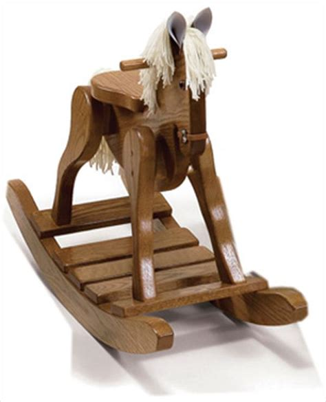 heirloom quality hand  rocking horse oak hardwood