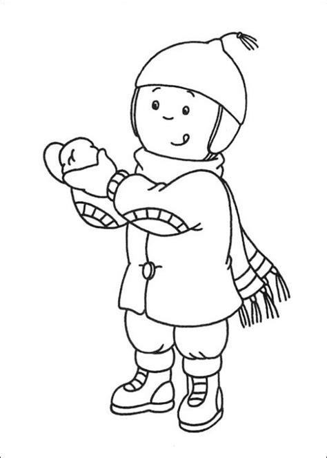 dibujos para colorear caillou maestra de infantil el invierno dibujos para colorear