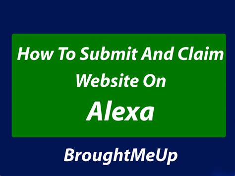 how to submit how to submit and claim or website on