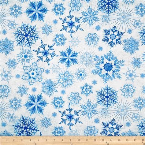 Snowflake Pattern Material | timeless treasures winter frost glitter snowflakes snow