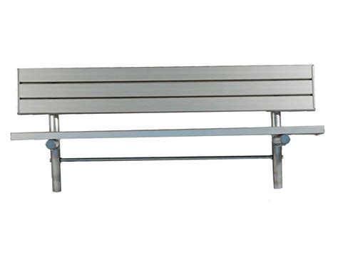 hobby bench 43rd and bell metal frame bench stationary aluminum slated player bench