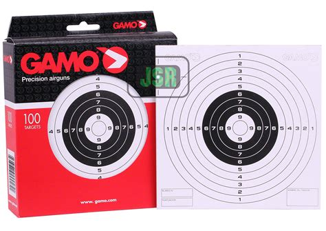 hft printable targets gamo 14cm card airgun targets 100 pack single bull air