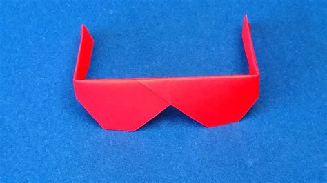 How To Make Paper Glasses - origami sunglasses how to make traditional origami
