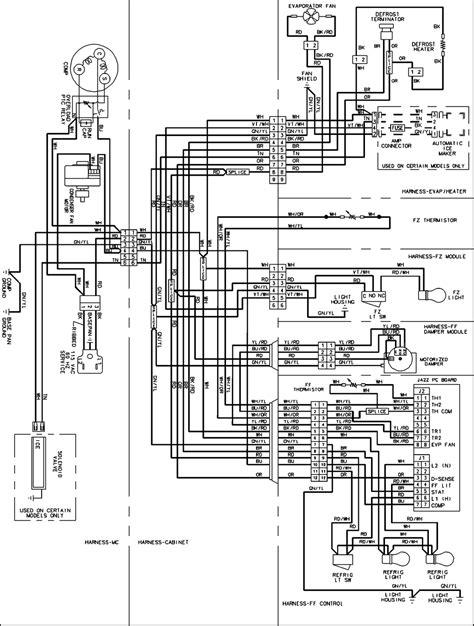 amana refrigerator wiring schematic wiring diagram schemes