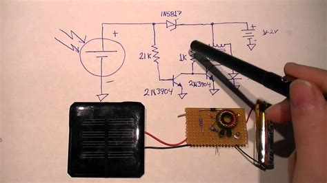 Minimal Solar Night Light Circuit Youtube How To Make Solar Light