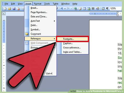 format footnotes in word mac 3 ways to add a footnote to microsoft word wikihow