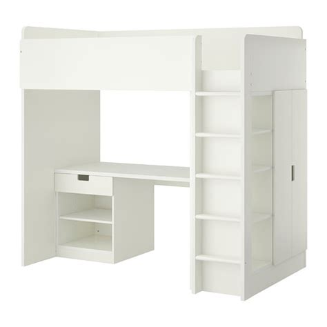 stuva loft bed with 1 drawer 2 doors white ikea