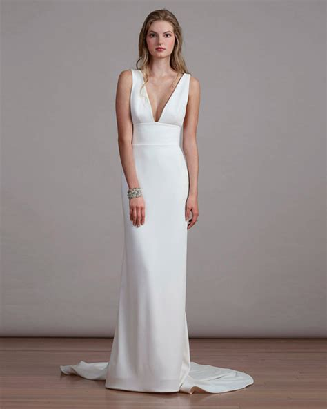 Simple Wedding Dresses by Simple Wedding Dresses That Are Just Plain Chic Martha