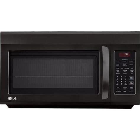 microwave with exhaust fan lg lmv1814sb 1 8 cu ft the range microwave with 400