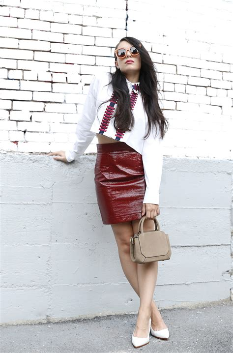 blouse to wear with leather skirt blouse with