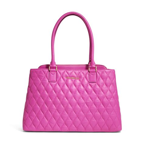 Quilted Bag by Vera Bradley Quilted Leather Tote Bag