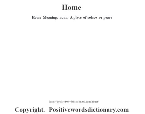 home meaning home definition home meaning positive words dictionary