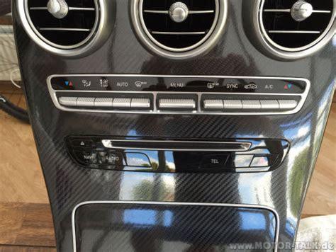 Auto Folierung Mercedes C Klasse by Folierung Der Mittelkonsole Von Klavierlackoptik Zu