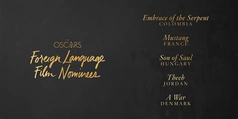 foreign language film nominations 2016 oscars oscars 2016 news 2016 oscars best foreign language film awardswatch