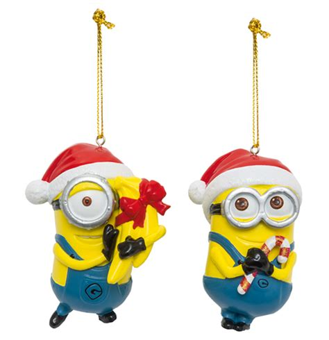 despicable me 2 tree ornaments dave stuart assortment 6