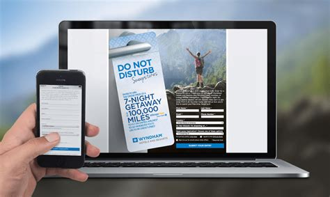 wyndham hotel sweepstakes app case study cygnis media - Sweepstakes App