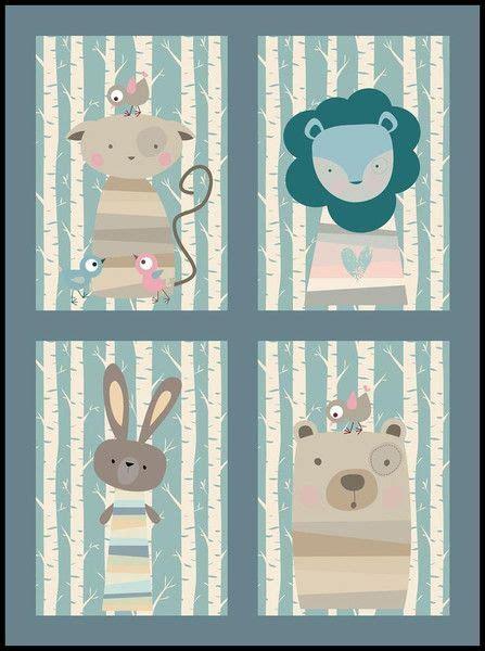 kinderzimmer bilder tiere kinderzimmer bilder set tiere im wald no2 milalu auf
