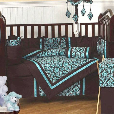 excited brown and blue bedding for nursery atzine com