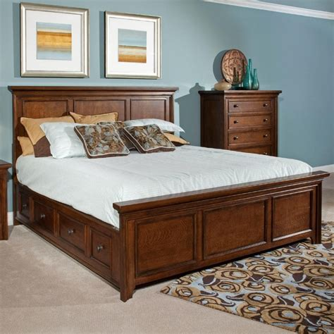 broyhill beds broyhill abbott bay king panel bed w underbed storage