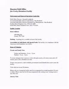 Custody Agreement Letter Exle Image Gallery Visitation Agreement