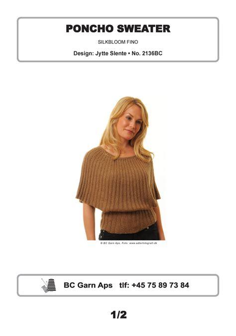 Sweater Fino poncho sweater in bc garn silkbloom fino 2136bc