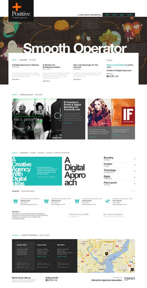 positive a digital approach one page website award