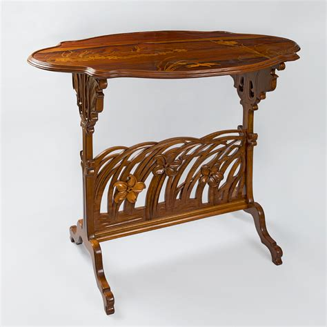 Antique French Chairs by Quot Narcissus Quot French Art Nouveau Carved Fruitwood Side Table