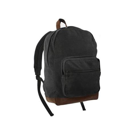 black backpack black backpack w leather accents cutlass clothing