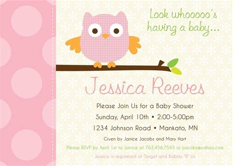 polka dot owl custom baby shower invitation by kimnelsoncreative