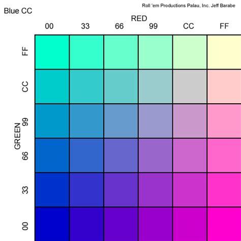 rgb color chart roll em productions palau rbg chart