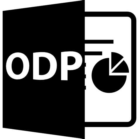format file odp odp file format symbol free interface icons
